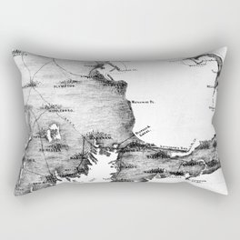 Vintage Map of Cape Cod (1885) BW Rectangular Pillow