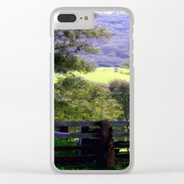 Cattle Yard Clear iPhone Case