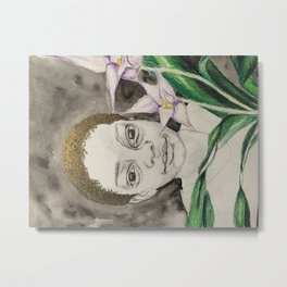 behind the asian orchids Metal Print