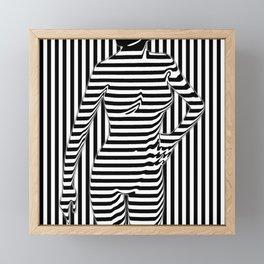Camouflage Stripes Female Framed Mini Art Print