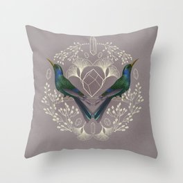 Endurance Crystal Grid in Mauve Throw Pillow