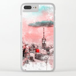 Sao Paulo - WaterColor 003D Clear iPhone Case