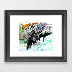 Kirby Krackle MUTATE, BABY! Album Cover Framed Art Print