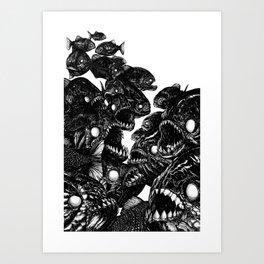 The Riot : Piranhas Art Print