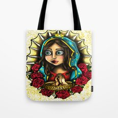 Lady Of Guadalupe (Virgen de Guadalupe) WHITE VERSION Tote Bag