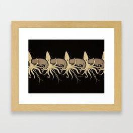 THE WHALE AND THE SQUID Framed Art Print