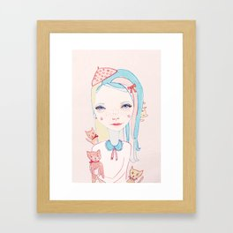 Merry Catmas Framed Art Print