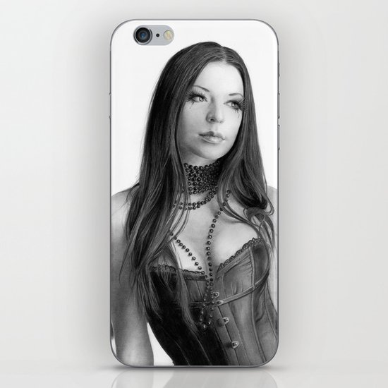 Just a woman - pencil drawing iPhone & iPod Skin