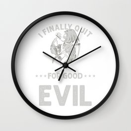 Alcohol Beverage Beer Brewing Liquor Drinker Gift I Finally Quit Drinking Wall Clock