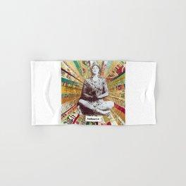 Buda Namaste Colage Colorful Ilustration  Hand & Bath Towel
