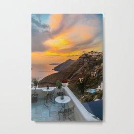 Gorgeous Santorini b Metal Print