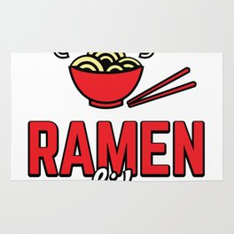Ramen Life College Student Tasty Anime Noodle Bowl Rug