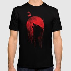 wolf hunter Mens Fitted Tee LARGE Black