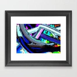 Tangles Abstract wall art Framed Art Print