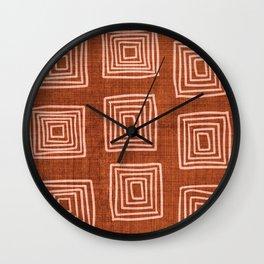 Labyrinth in Rust Wall Clock
