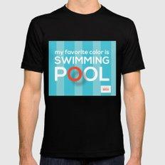 My favorite color is swimming pool Black Mens Fitted Tee MEDIUM