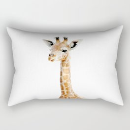 Baby Giraffe Portrait Rectangular Pillow
