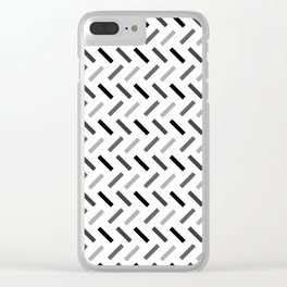 Wonky Rectangles Clear iPhone Case