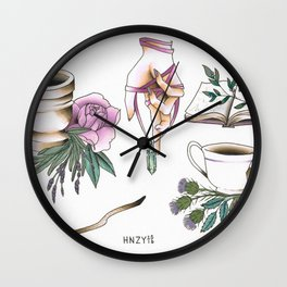 Witchy Accessories Wall Clock