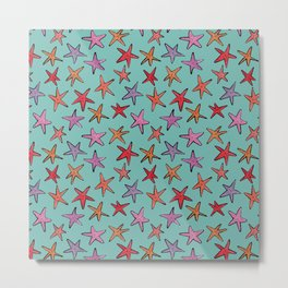 Starfishes in tropical sea Metal Print