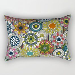 mandala cirque festival stripe Rectangular Pillow