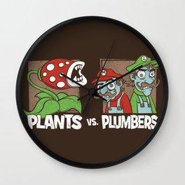 Plants Vs Plumbers  Wall Clock