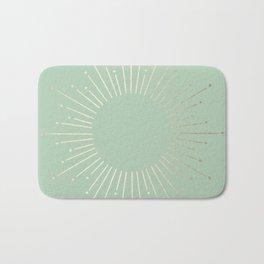 Simply Sunburst in Pastel Cactus Green Bath Mat