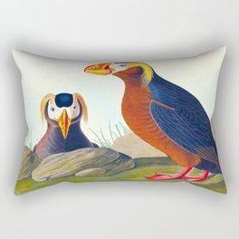 Tufted Auk Bird Rectangular Pillow