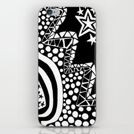 Soul Of The Dream Desert - Star Gazer (Black and White Edition) iPhone Skin