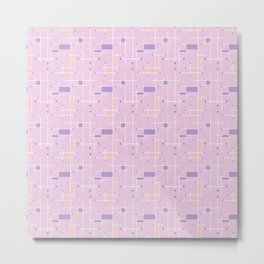Intersecting Lines in Pink, Peach and Lavender Metal Print