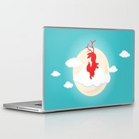jackalope Laptop & iPad Skins featuring Jackalope by Oğuzhan Ada