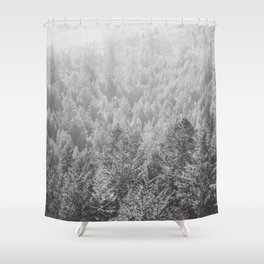 Mt Tamalpais in Shades of Gray Shower Curtain