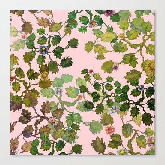 pink nature garden Canvas Print