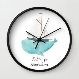 Let´s go somewhere Wall Clock