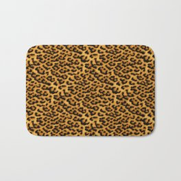 Chic Leopard Fur Fabric Bath Mat