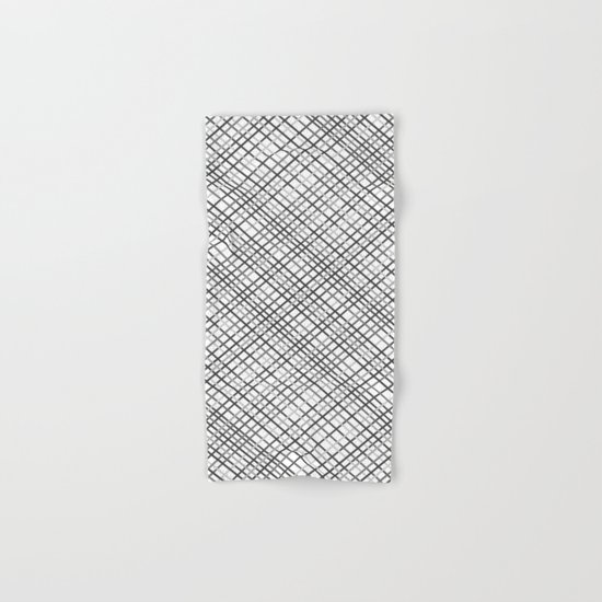 Weave 45 Black and White Hand & Bath Towel