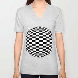 Blender Checkersphere 2 Color Unisex V-Neck