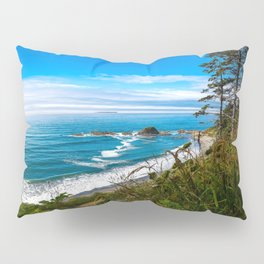 Pacific View - Coastal Scenery in Washington State Pillow Sham
