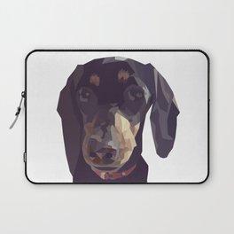 Geometric Sausage Dog Digitally Created Laptop Sleeve