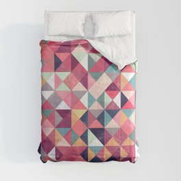 Lovely Geometric Background Comforters