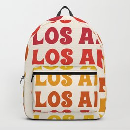 Los Angeles - retro vibes throwback minimal typography 70s colors 1970's LA Backpack
