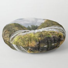 Fall on the McKenzie River Floor Pillow
