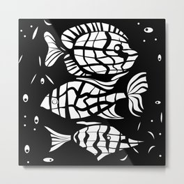 Fish . Zodiac sign Metal Print