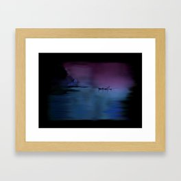 60 - Kerala fishing boat & morning sky Framed Art Print