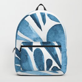 Watercolor artistic drops - blue Backpack