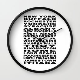 Cities of New York Bus Roll Wall Clock