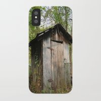 outdoor iPhone & iPod Cases featuring Outdoor toilet by jim snyders photography