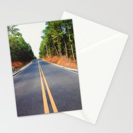 Empty road Stationery Cards