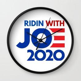 ridin with joe biden 2020 Wall Clock