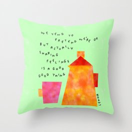 Our Feelings Are Valid - Mental Health Self-Love Illustration Tea Pot Coffee Cup  Throw Pillow